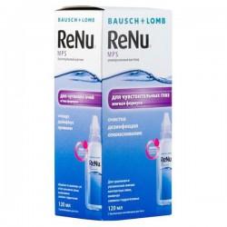 Раствор для ухода за контактными линзами, Реню 120 мл МПС универсальный для чувствительных глаз