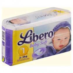 Подгузники, Либеро Беби софт ньюборн №24 0-2.5 кг