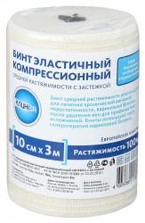 Бинт эластичный компрессионный, Балтик Медикал р. 3мх10см средней растяжимости