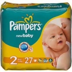 Подгузники, Памперс нью беби мини №27 3-6 кг р. 2