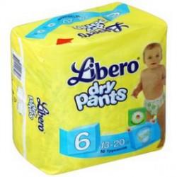 Подгузники-трусики, Либеро Драй Пэнтс экстра лардж №16 13-20 кг